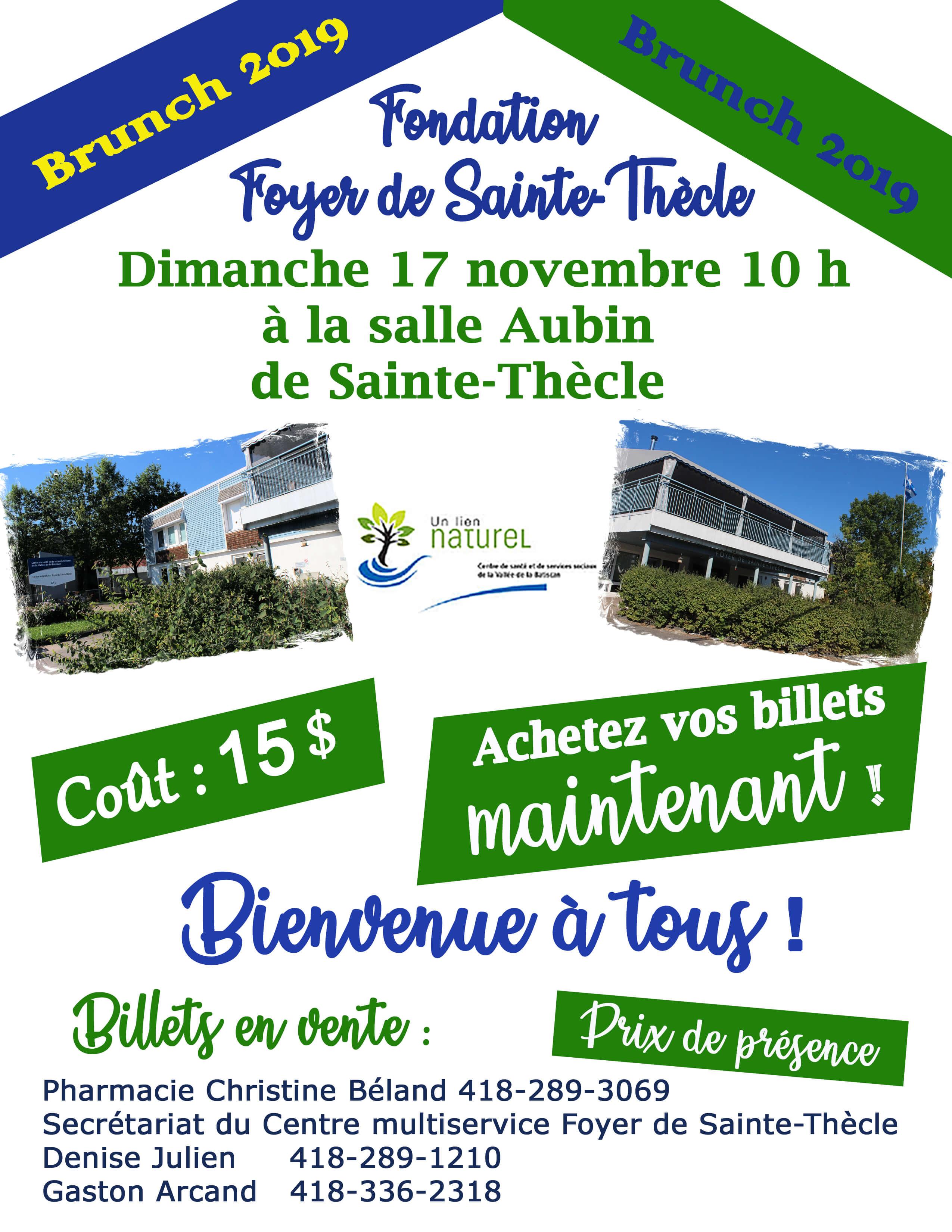 Brunch Fondation Foyer Sainte-Thècle