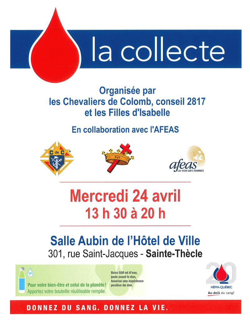Collecte de sang Héma-Québec